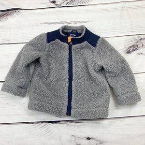 Baby Boy Gap Sherpa Fleece Jacket Coat 12-18m